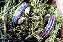 Obrączki z drewna metali, kamieni i żywicy Woodrings& metal &stones &resin / www.instagram.com/woodme.com.pl/
