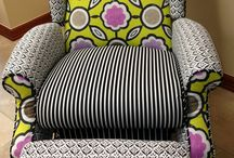 Patterned Fabric Recliner armchair
