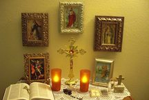 Home Altar Ideas / Catholic Home Altar / by Miranda Jean-Louis