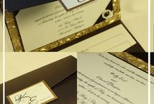 Elegant Embossed Wedding Invitations / All the hand-made inspiration embossed wedding invitations that create modern and yet chic and unique designs.