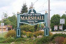 Michigan / John Bellairs's hometown of Marshall, Michigan