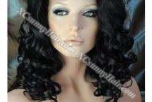 Lace Front Wigs / Lace front wig means the wig has 3 inches lace in the front and weft in the rest place. With lace in the front, you can part the hair in the front 3 inches of the wig XCsunnyHair's lace front wigs are 100% Indian Remy Hair. You are free from tangle, what is more, you can flat iron or curl the hair. As the weft are in the back of the lace front wigs, the wig is more versatile. It has adjustable staps and you can easily adjust the size of the wig.