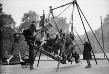 Playgrounds from the past. / Times change and we are constantly redesigning the products children play on - but do the activities children need really change. Here are some pictures from the past
