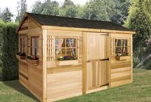 Small Prefab Beach House kits / Cedarshed Beach House Kits are perfect for the beach or as a poolside retreat.  The DIY small shed kits are available in 3 sizes: 6x9, 9x6 and 12x8. Exterior finishing is beautiful, aromatic 100% Western Red Cedar.
