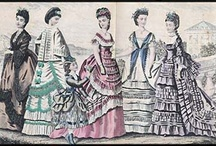 Godey's & Other Fashion Plates, and Victorian Fashion Designs HIstory / I fell in love with Victorian fashions when my Grandmother gave me an August 1870 Godey's fashion plate she had saved.  I just love the dresses.