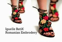 Embroidery sandals