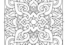 VLC Loves Colouring Pages for Adults / Some of these are because they'll make great FMQ patterns