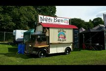 nelly's barn / nelly is on the road in the uk, made out of old oak, corrugated iron, string and a fifty year old van