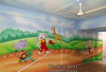Play School Cartoon Wall Painting Work / we are working Play School Cartoon Wall Painting in allover India