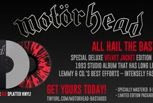 Motörhead / ALL HAIL THE BASTARDS! A special deluxe velvet jacket edition of this seminal 1993 studio album that has long lived as one of Lemmy & Co.'s best efforts – intensely fast and brutally loud! #motorhead / by Cleopatra Records
