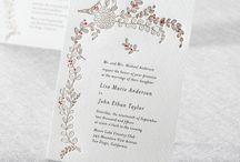 Letter Press Invitations