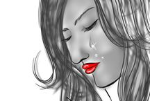 Emotion & Feelings Sketches / When we are Feelings so Painful from Heart and Mind....then we feel inside in heart Emotion like this..