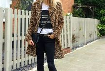 Animal printed coats