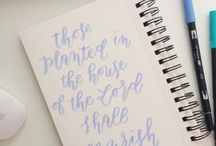 Handlettering & Calligraphy / handlettering, quotes, prints, handwritten bible verses and calligraphy