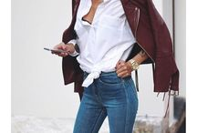 Jeans and blouses
