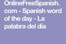 Spanish word of the day - La palabra del día.