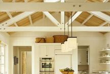 Exposed ceilings and pergolas