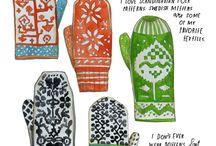 //Nordic mittens//