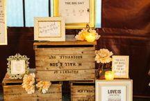 Caixotes na decoração de casamento (referencias)