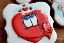 Печенье ко дню святого валентина, свадебные