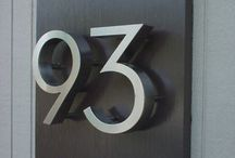 Outside House Numbers Displayed
