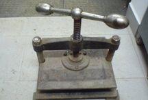 Bookbinder's hand press / Bookbinder's hand press