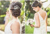 Bride - Dress. Hair Shoes
