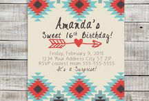 Printable Invitations. Young Ladies / Pretty Printable Birthday Invitations for Teenage Girls.