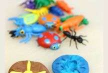 playdough insect fossils