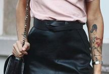 юбки кожаные