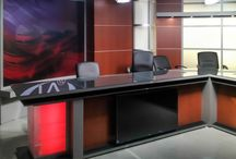Broadcast News Desks / A collection of news desks intended for small to large broadcast studio design.