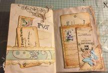 Journals, Prayer flags, Junk journals