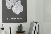 Denmark (city maps) / Handmade city maps. Want a map we don't have yet? Contact us!