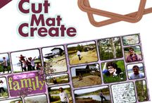 Cut Mat Create Collection / The Cut Mat Create Collection is designed for those that have stacks of photos that need to get into a book or at least onto a page. You get a die cut for every size photo you have in storage. Simply cut out your photos whichever way you prefer and the format will fit perfectly on a 12x12 layout. You can arrange the photos upright or sideways and cut them out large or small. Simply select your photos, select one of our beautiful sketches, die cut the photos and glue them down!