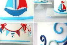 Nautical beach cake