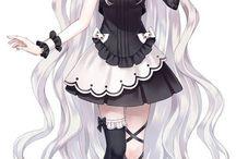 Fille manga - Lolita chat