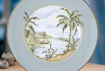Paysage porcelaine