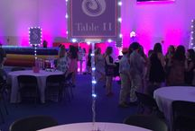 Sophie's Sparkle Bat Mitzvah Party / Decor and party ideas for a Lavender and Pink Sparkle Themed Bat Mitzvah Party
