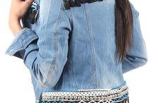 chaquetas de jeans Boho chic