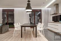 Aranżacje Perfect Space - Neo loft / Proste i nowoczesne. Eleganckie i stonowane. Opierając się na kontrastach między użytymi materiałami, udało się osiągnąć wyjątkowe wnętrze w trochę neo loftowym klimacie.