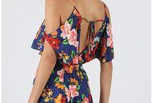 blusas florais