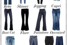 tipos de roupas e sapatos