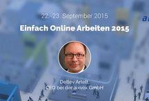 Speaker der #EOA15 / Alles zu den Speakern von Einfach Online Arbeiten 2015 #EOA15