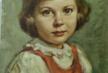 κοριτσακι 1968 / ζωγραφικη  λαδι
