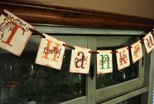 Thanksgiving - Garland/Banner Ideas