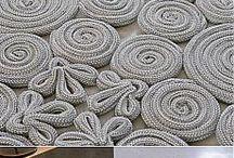 Ковры крючком и из шнуров