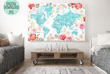 ~ The floral world maps ~