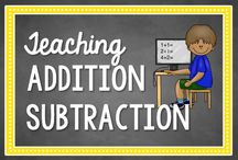 Addition and Subtraction / Activities, resources, and idea for teaching addition and subtraction / by Math Coach's Corner