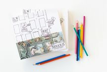 Serious Starters Volume I / Start Drawing, Start Storying, Start Imagining!  Create worlds and stories, then grow them through words, song, creation, and play.  http://www.seriouscreatures.net/products/serious-starters-volume-1