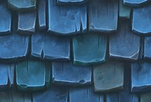 Game/3D Textures / Inspired to make had-painted textures :) OR use them for texturing. :)